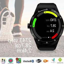 Fitness Tracker 3G Smart Watch Android 4.4 Phone WiFi Google