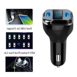 4.2A Dual USB Car Charger Tracker Locator GPS RealTime GSM G