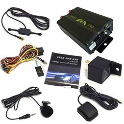 ATian GPS GPRS SMS Real-time tracker TK103A Quad band SD car