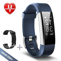 Fitness Tracker Lintelek Heart Rate Monitor Activity with Co