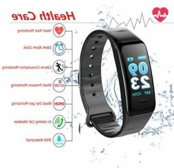 Fitness Watch Tracker Heart Rate Monitor Color Screen IP68 W