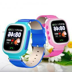 GPS Tracker Kids Smart Watch Baby Safe Locating Phone Watch
