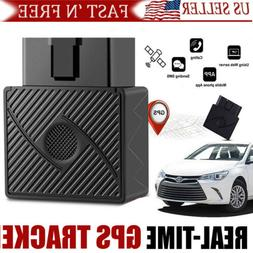 GPS Tracker Mini OBD2 Real Time Hidden Spy Car Truck Vehicle
