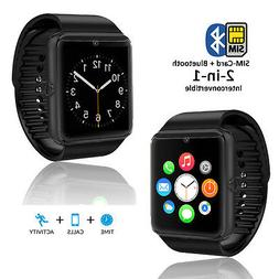 GSM GT8 Unlocked Smart Watch & Phone w/ Activity Tracker for