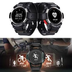 IP68 Bluetooth Smart Watch Fitness Tracker GPS Running Heart