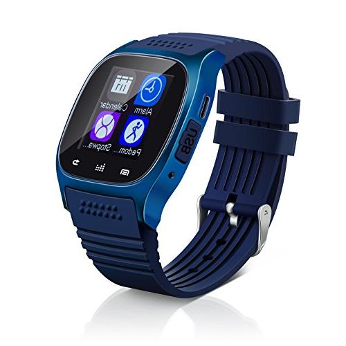 Bluetooth Smart Wrist Watch + Earphone For IOS Android iPhon