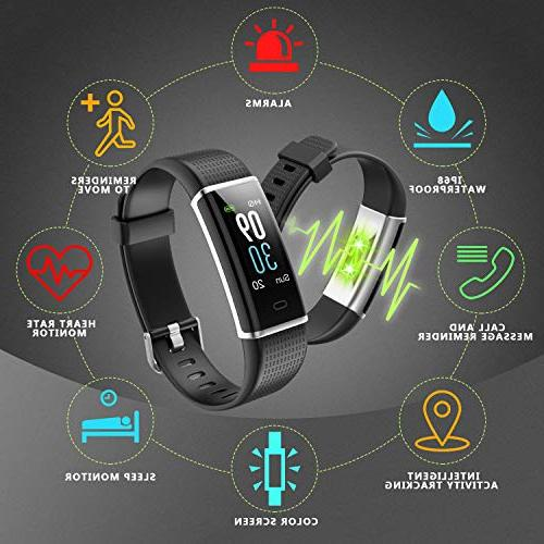 LETSCOM Rate Color Screen, Step Counter, Sleep Pedometer, Watch