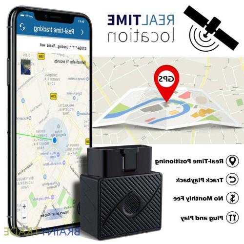 OBD II GPS Tracker Real Time Vehicle Tracking Device for Car