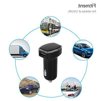 Car Tracker Real Tracking Dual USB Car Adapter