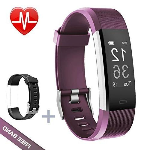 Lintelek Fitness Tracker Heart Rate Monitor Activity Tracker