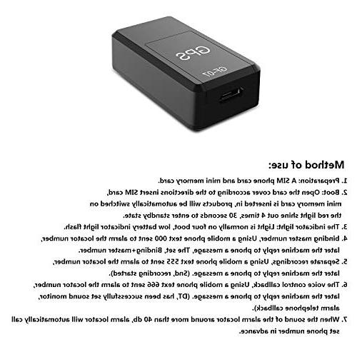 Kimfly GPS Tracker, Magnetic Mini GPS Time Tracking Magnetic Tracking Device GPRS Locator GF07