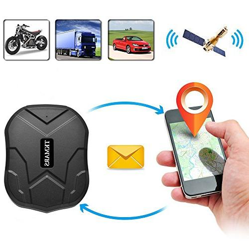 Hangang GPS Tracker for Vehicle, Car Locator GPS Magnet for Cars Motorcycle Waterproof IP66 Real Locator Days Standby time 5000mah Battery