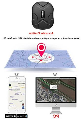 Hangang GPS Vehicle, GPS IP66 Real Time GPS Locator Standby time Battery