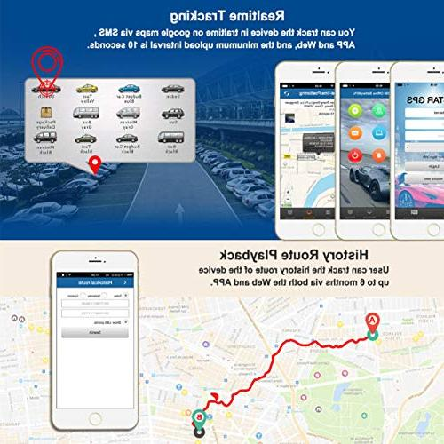 BARTUN Vehicles Magnet Tracking for Cars Motorcycle Wireless Real Days Standby