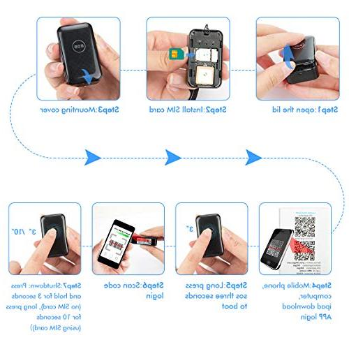 CaGuan Mini GPS Personal Real-time Tracking Application Anti-Lost GPS