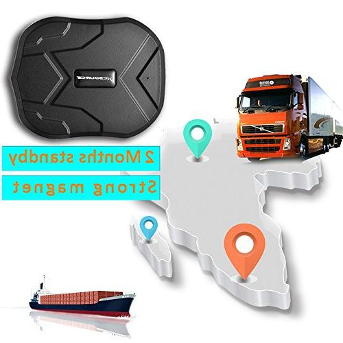 GPS Tracker, Magnet GPS Tracke,90 Standby GSM/GPRS Real Time Tracking Locator for Cars Motorcycles Vehicles