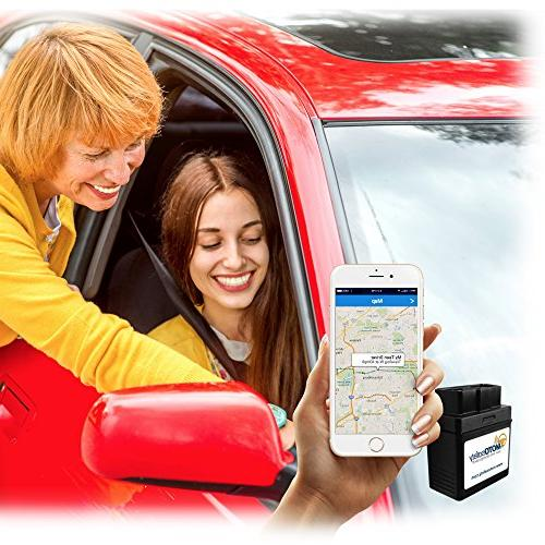 MOTOsafety OBD GPS Service Locator, Real-Time Teen Driving Coach, & MPVAS1