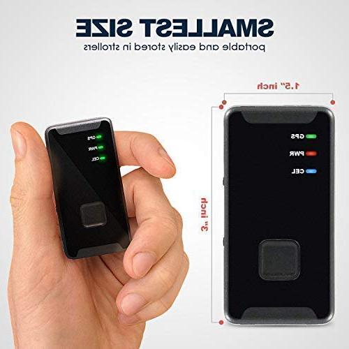 Personal GPS Tracker Mini, Real LTE - Button - Tracking Device - for Seniors, Kids, Spy Travel