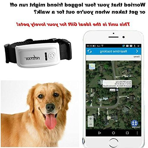 Pet Tracker,Hangang Pet Tracker Dog, The 2nd Dog Tracker Dog Collar Global GPS/GSM Long Standby,Waterproof Tracking