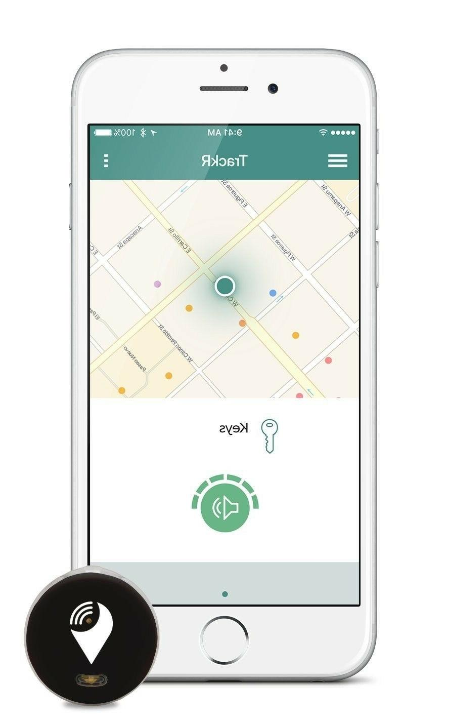 trackr pixel bluetooth tracking device key tracker phone fin