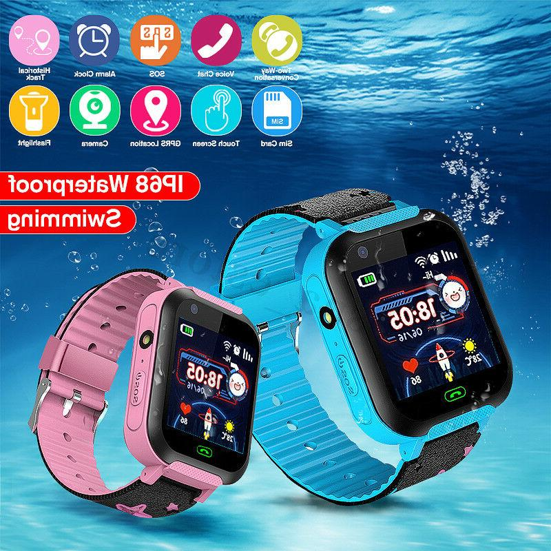 waterproof gps tracker smart kids child watch