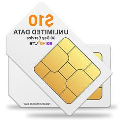 $10 Prepaid GSM Sim Card for GPS Tracker Devices Locators Sm