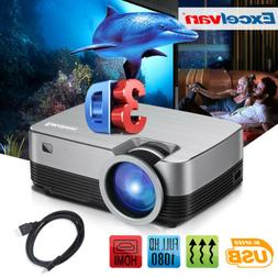 Portable LED Projector 5000 Lumens Multimedia Home Cinema 10