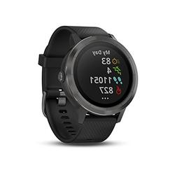 Garmin vvoactive 3 GPS Smartwatch - Black & Gunmetal Black w