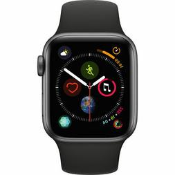 Apple Watch Series 4  - Space Gray Aluminium Case with Bla