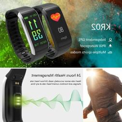Men Waterproof Bluetooth Smart Watch Bracelet Heart Rate Mon